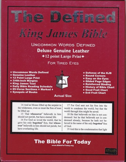 DEFINED KING JAMES BIBLE